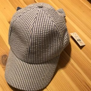 Francesca's blue stripe hat
